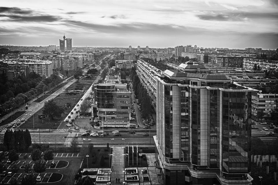 crno-bela slika Beograda